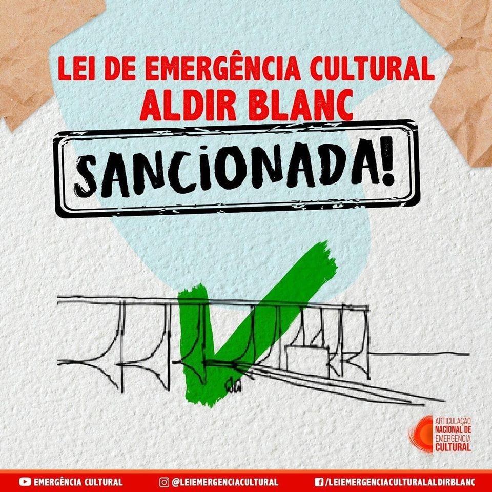 Sancionada a lei Aldir Blanc para auxílio na área cultural